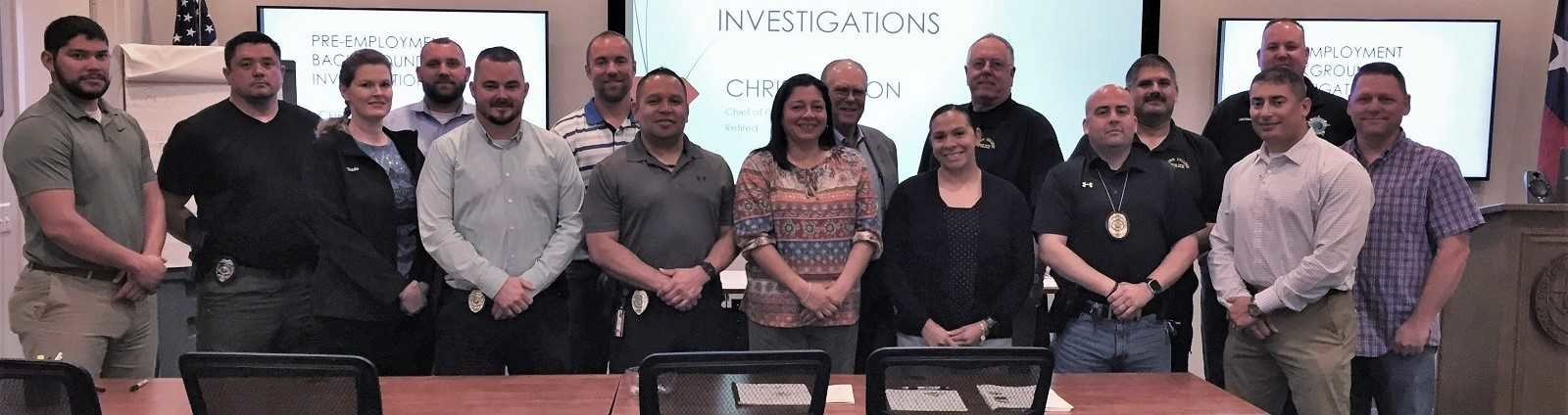 Trainees at the TPCA Pre-Employment Background Investigations Training Class